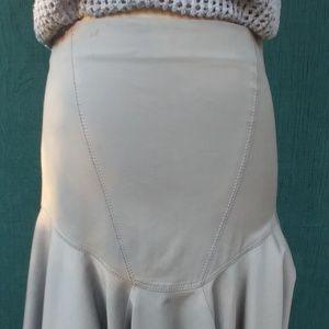 Zac Posen platinum bodycon skirt